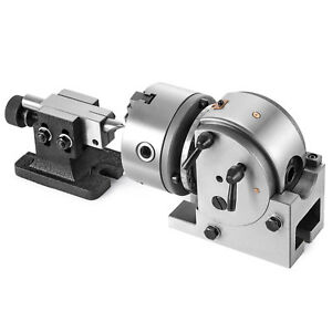 Indexing Dividing Spiral Head 3 jaw Chuck Tailstock Cnc Milling