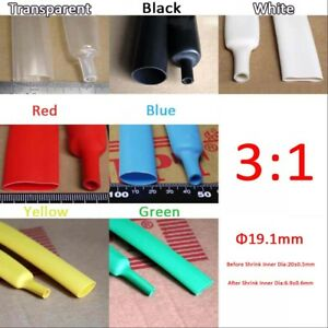 Waterproof 3 1 Heatshrink Tube 19 1mm Heat Shrink Tubing Sleeving Glue Lined