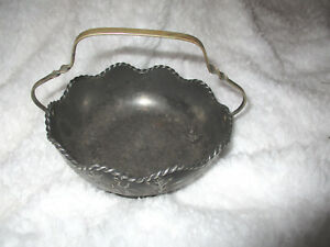 Antique Pairpoint Mfg Co New Bedford Mass Quadruple Plate Wedding Bowl W Handle