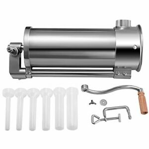 6 L Vertical Commercial Sausage Stuffer 10 Lb Stainless Steel Meat Press 6 Tubes