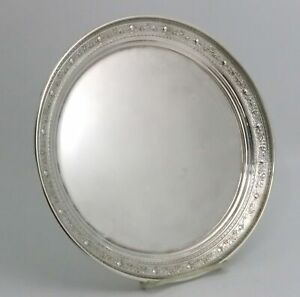 Sterling Silver Tray By M Fred Hirsch Urns And Floral Design