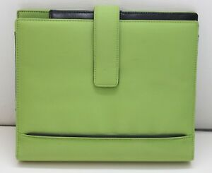 Franklin Covey Lime Green Microfiber Leather Planner Organizer New W Tag C