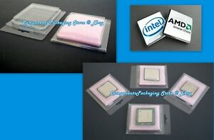 100 Cpu Clam Shell Case For Intel Amd Processor With Anti Static Foam New