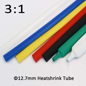 12 7mm Heatshrink Tube Heat 3 1 Shrink Tubing Adhesive Glue Lined Waterproof