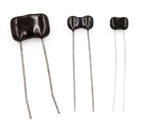 Radial Dipped Silver Mica Capacitors 1 2pf To 1 000pf 100v To 1500v Lot Of 3