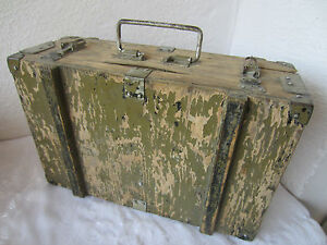 16 Antique Vintage Old Wooden Tool Army Box Wood Shabby Chippy Patina