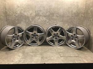 Volvo 60 70 Series 16 Inch 5 Spoke Aluminum Wheels Rims Used Oem Set Of Four