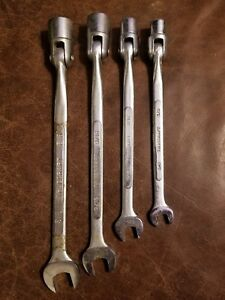 4 Truecraft Flex Head Socket End Wrenches 3 8 7 16 9 16 5 8