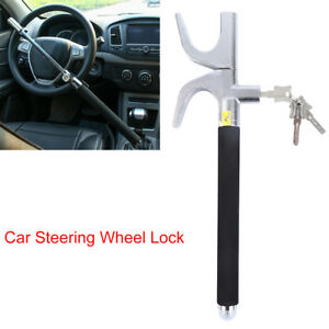 Black Car Steering Wheel Lock Anti Theft Security System For Car Truck Suv Auto