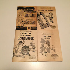 1950 Chrysler Dodge Plymouth Master Tech Distributor Oil Cooling Tappet Books