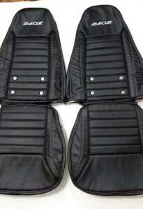 Datsun 240z Aftermarket Synthetic Leather Seat Covers With Logos