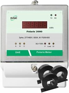 Dae P206 600 s Kit 600a 277 480v Ul Kwh Smart Submeter 3 Phase 4 Wire 3 Cts