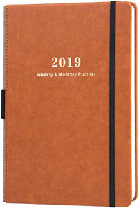 2019 Planner Weekly Monthly Planner With Calendar Stickers A5 Premium Paper