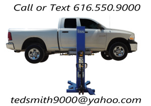 New 6 000 Lbs Mobile Low Profile Single Column Lift Free Truck Adapters