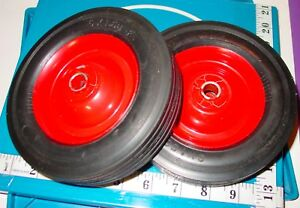 2 Vtg 6x1 5 Replacement Solid Hard Rubber Tire Wheel Dolly Hand Cart Usa Nos
