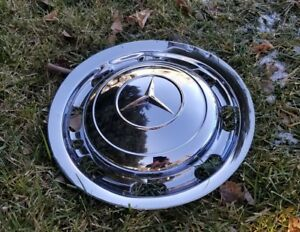 Mercedes Benz W180 220s 220a 219 Hubcaps Chrome W Beauty Trim Rings Lot Of 3
