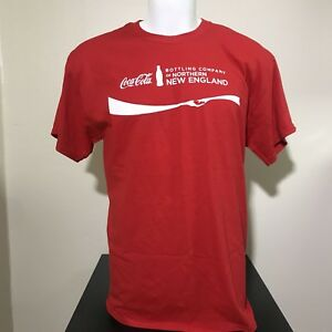 Coca Cola Shirt Mens L Graphic Tee Bottling Company Northern New England Red
