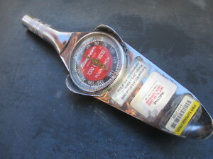 Vintage Snap On Torqometer Torque Wrench Dial Face Inch Pounds 3 8 Drive