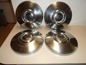 Vintage Ford Dog Dish Hubcaps Late 60 s early 70 s Set 4