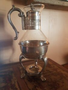 Fb Rogers Silver Co 1940 S Tea Coffee Warmer Carafe Stamped Silverplated