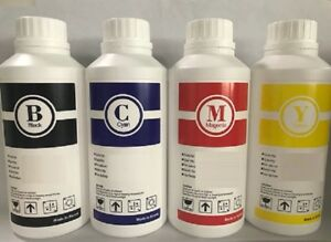 4 X Bulk Sublimation Ink Refill For Epson 2000 Ml c y m k
