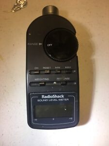 Radio Shack Digital Sound Level Meter 33 2055 Spl Audio