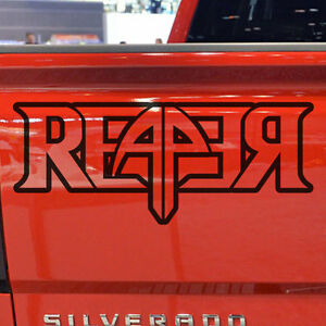 Chevrolet Reaper Silverado Logo Graphic Vinyl Decal Sticker Chrome Reflective