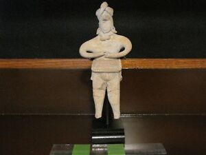 Pre Columbian Pottery Colima Gingerbread Figure Late Form 300 Bc 200 Ad