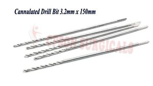 Cannulated Drill Bit 3 2mm For 4 0mm Cannulated Screw Using Orthopedic Set 10pcs