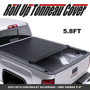 Lock Roll Up Tonneau Cover Fit 07 14 Chevy Silverado Gmc Sierra 5 8ft Short Bed
