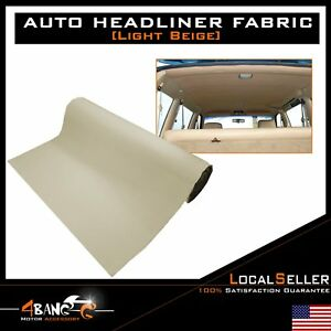 120 X 60 Car Headliner Fabric Auto Upholstery Backed Foam Roof Decorate Repair