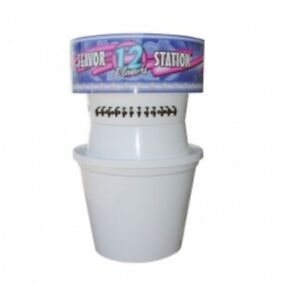 Large 12 Flavor Snow Cone Flavor Station Commercial Concessions Equipment