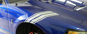 Fender Stripe Mustang Gt Roush Decal 2 Sides
