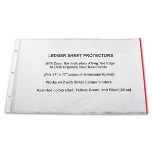 Top Loading Color Coded Highlighted Sheet Protectors Long Term Documents Storage