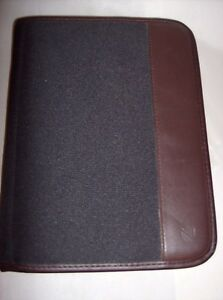 Mead Cambridge Undated Zippered Day Planner Nos Unused Black Canvas With Brown