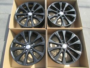 18 Toyota Camry Avalon Rav 4 Wheels Rims Set Alloy Gloss Black Original Parts