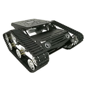 Smart Robot Car Chassis Aluminum Crawler Belt Tracked Tank With Code Wheels