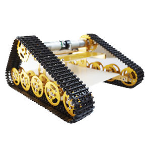 Smart Robot Car Chassis All Metal Crawler Belt Tracked Tank With Code Wheels