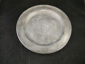Antique 15 Pewter Plate Charger Marked