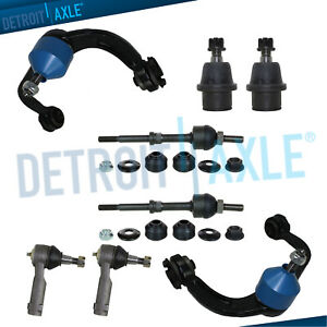 2006 2007 2008 F 150 Mark Lt 8pc Front Upper Control Arms Tierods 2wd