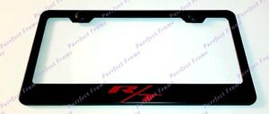 Rt Red Dodge Hemi Charger Challenger Black Stainless Steel License Plate Frame