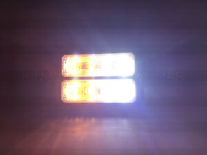 Dual Row 8 Led Grille Light Side Marker Warning Tow Truck Wrecker Police Car