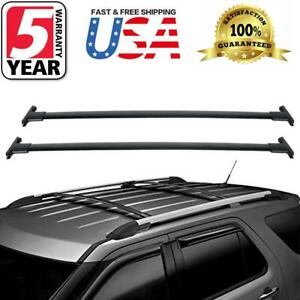 For 2013 Ford Explorer Roof Rack Cross Bar Black Pair Oem Replacement Car Top Us