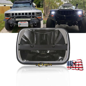5x7 7x6 Led Clear Projector Headlight For Ford Gmc Jeep Cherokee Xj Yj 1 Lamp