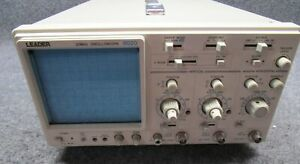 Leader 8020 2 Channel 20mhz Oscilloscope tested Working
