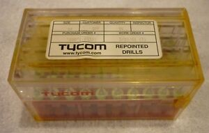 66 0 033 Pcb Drill 50 Psc Tycom Repointed Soild Carbide Drills