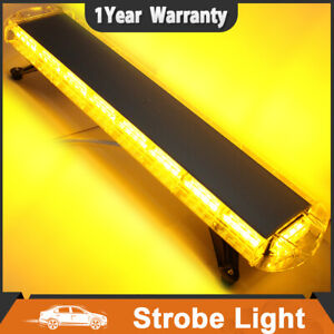 72 Led Amber 38 Strobe Light Emergency Beacon Warning Tow Truck Roof Top Yellow