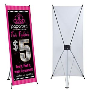 Paparazzi Banner X Stand Included 24 x 63 Events Trade Shows Ready Hang Display