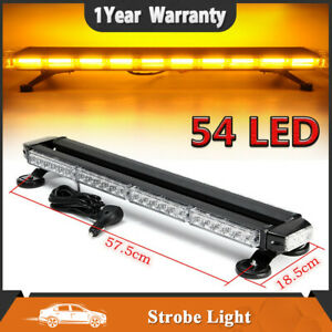 26 5 Amber 54 Led Emergency Warn Flash Strobe Light Traffic Advisor Double Side