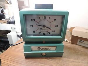 Vintage Acroprint Time Recorder Auto Punch Clock 125qr4 Timecards